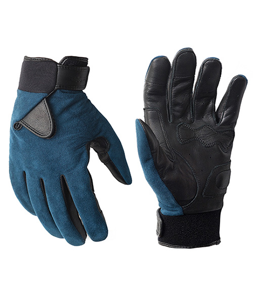 HYBRID GLOVE_ULTRASUEDE BLUE