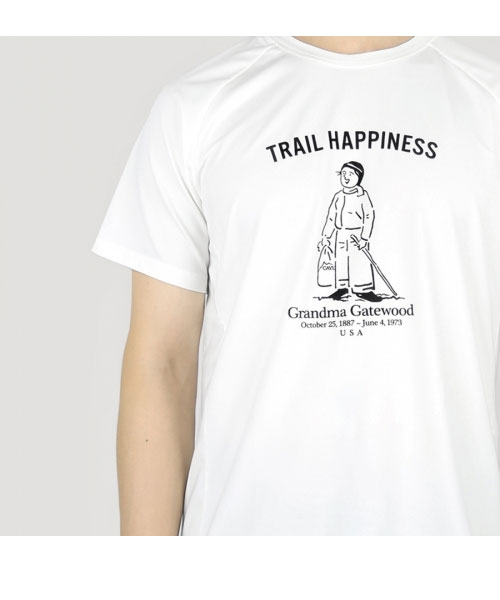 TRAIL HAPPINESS TEE WHITE