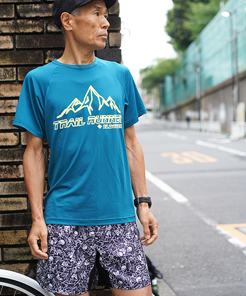 Trail Runner Raglan T BlueGreen