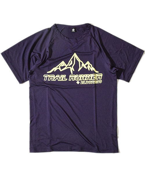 Trail Runner Raglan T Purple