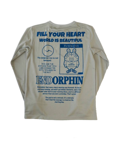 ENBIT GRAPHIC LS TEE grey
