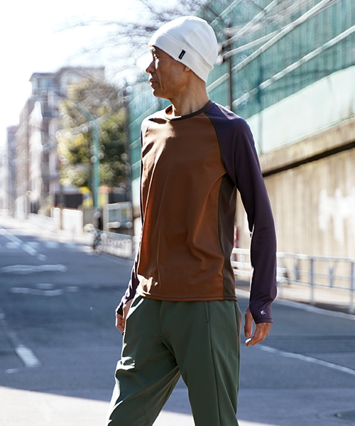 LONG SLEEVE WOOL Tee 003 BROWN