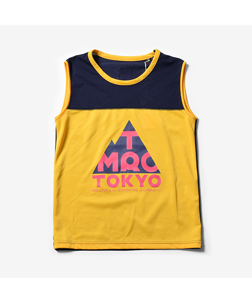 TMRC 2tone Mesh Sleeve-less Yellow Navy