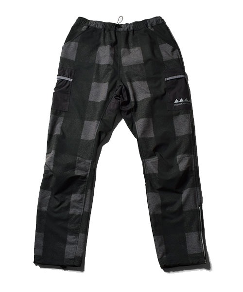 7pkt Run Long Pants Buffalo Check Black