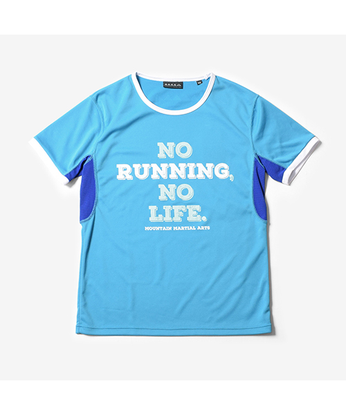 MMA No Running No Life Trim Tee Turquoise