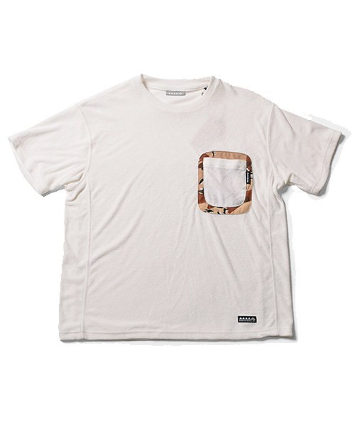 Pile Big Pocket Tee White