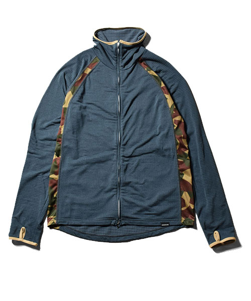 POLARTEC Power Grid Zip High Navy