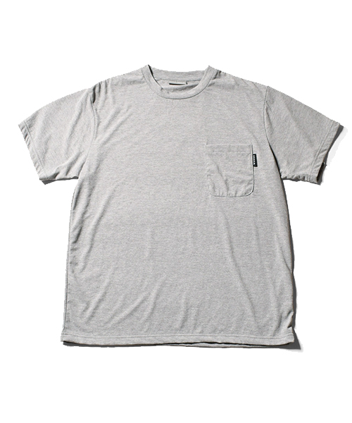 Solid Pocket Dry Tee Gray