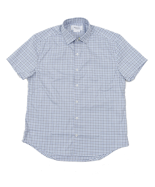 Aero Short Sleeve Blue Tattersall