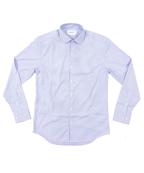 Aero Dress Shirts BlueStripe