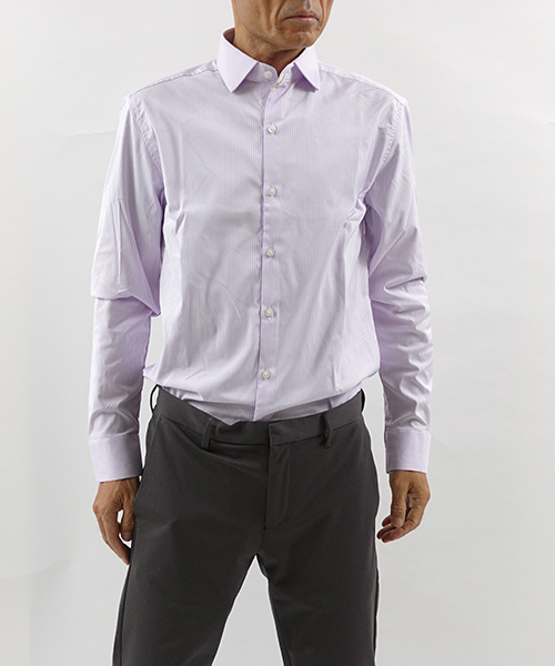 Aero Dress Shirts LavenderStripe