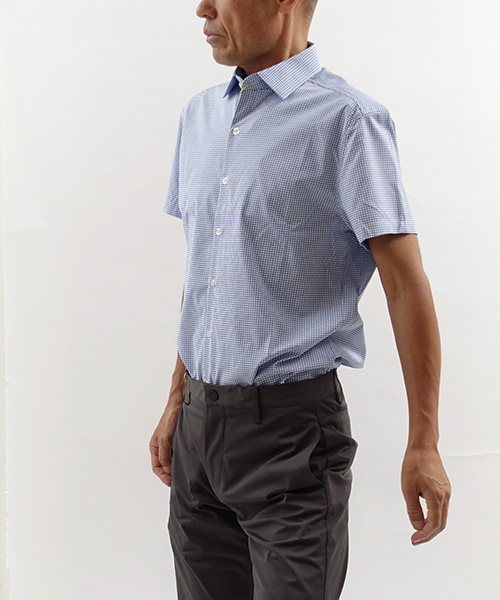 Aero Short Sleeve Blue Grid