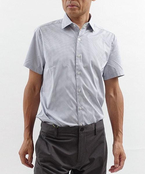 Aero Short Sleeve Grey Grid