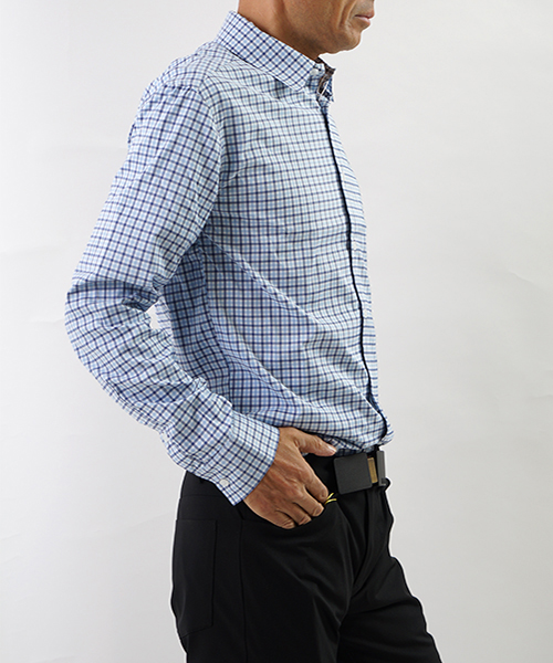 Daystarter Dress Shirts Blue Gingham