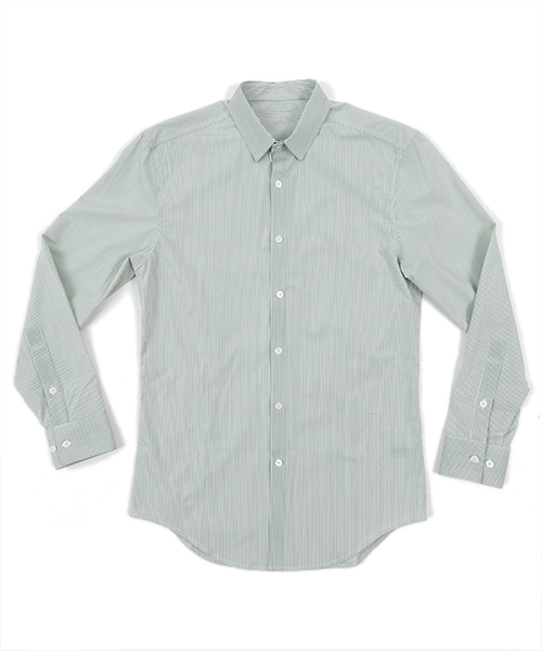 Updated Dress Shirts GreenStripe