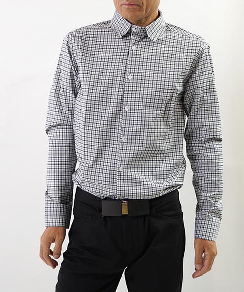 Daystarter Dress Shirts Grey Gingham