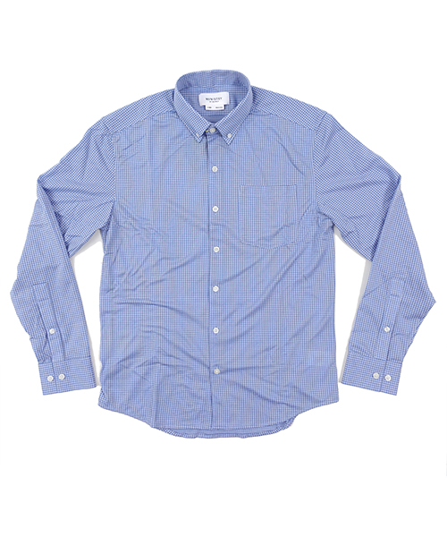 Hybrid Button Down LightBlue Gingham