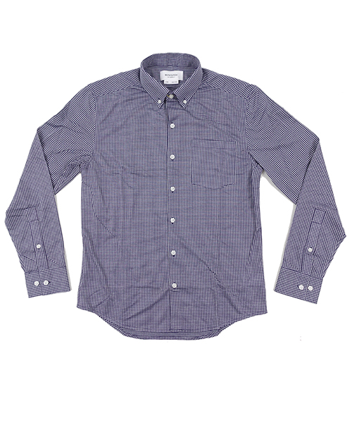Hybrid Button Down NavyGingham