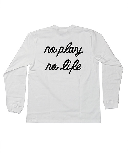 play L/S Tee WHITE