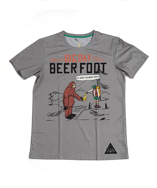 STAMP GRAPHIC RUN TEE (BEER FOOT)