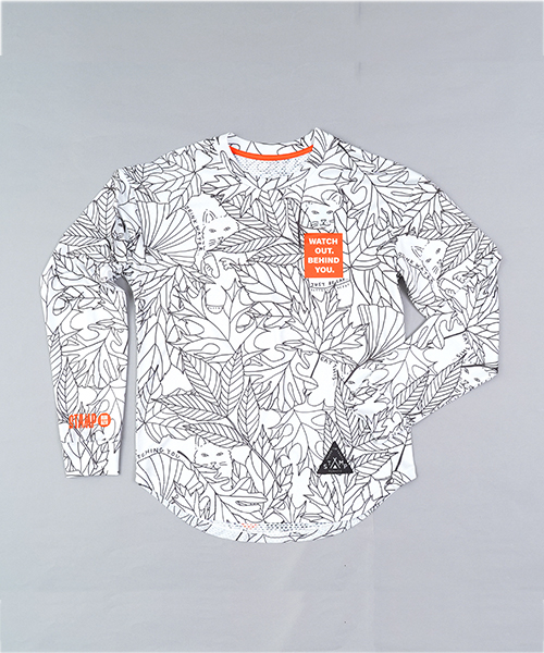 STAMP LONG SLEEVE TEE(WATCH OUT!)