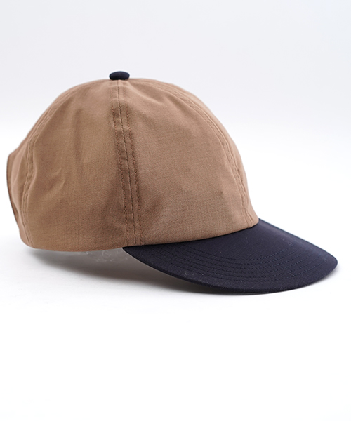 FLIP UP B CAP MERINO WOOL BROWN×NAVY
