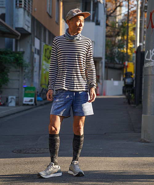 MERINO BORDER LONG T-SHIRT