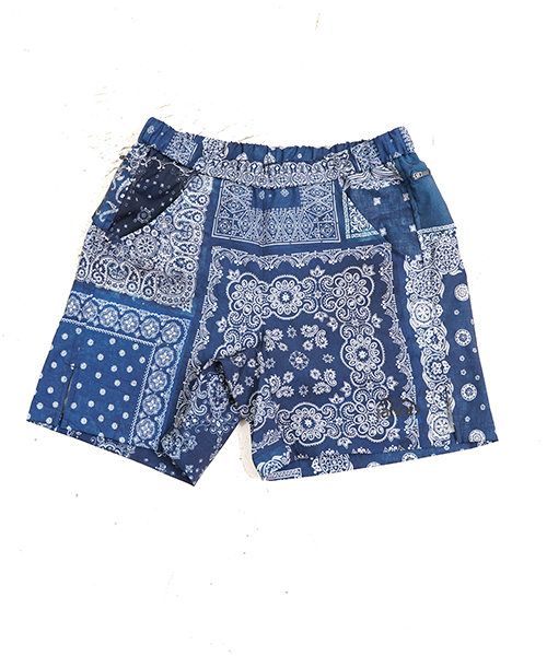 BANDANA MIDDLE SHORTS INDIGO