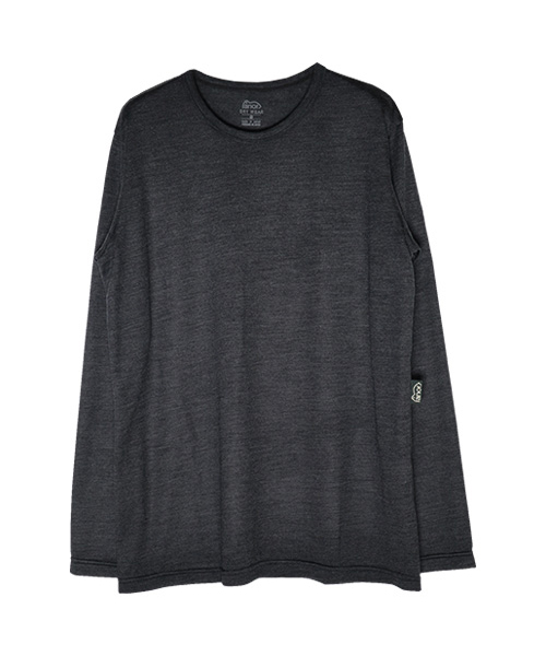 MERINO LONG T-SHIRT CHACOAL