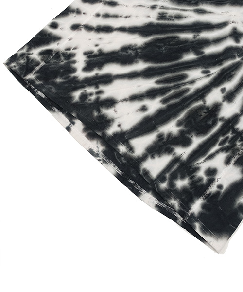 RADIATION TIE DYEING T-SHIRT BLACK