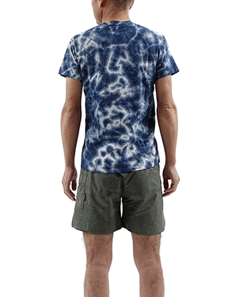 UNEVEN TIE DYEING T-SHIRT NAVY
