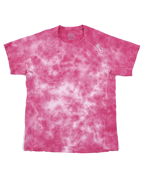 UNEVEN TIE DYEING T-SHIRT PINK